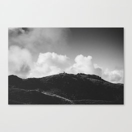 Lone Sheep on a Hill Canvas Print