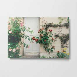 Roses in Giverny, France Monet's Garden Metal Print