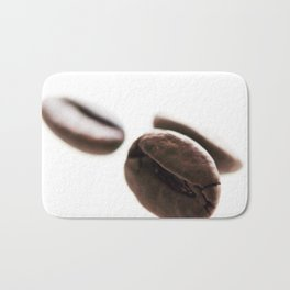 Roasted Coffee Beans Against White Background Bath Mat
