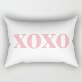 Coral XOXO Rectangular Pillow