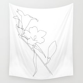 Carolina Jessamine (outline) Wall Tapestry