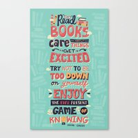 risa rodil Canvas Prints featuring Read Books by Risa Rodil