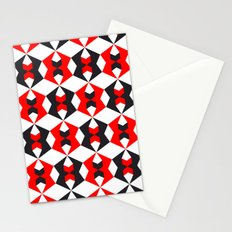 Red hexagon pattern Stationery Cards