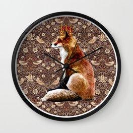 The Fox King - Strawberry Thief Wall Clock