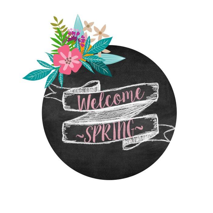Welcome Spring chalkboard Comforters