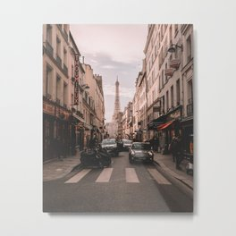 Paris France and the Eiffel Tower Metal Print