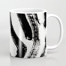 Black and White Abstract Pattern 1: A minimal black and white pattern by Alyssa Hamilton Art Coffee Mug