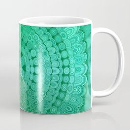 Green Mandala Circle Coffee Mug