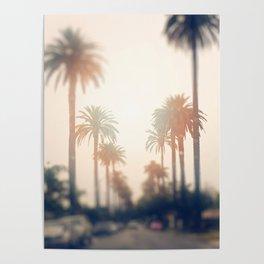 Los Angeles Street on a Rainy Saturday Poster