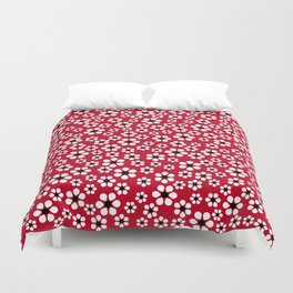 Dizzy Daisies - Red 2 - more colors Duvet Cover