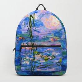 Water Lilies Claude Monet Restored Backpack