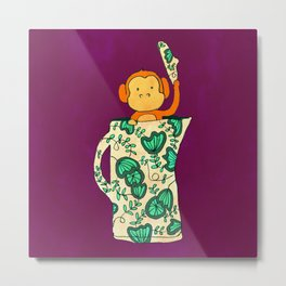 Dinnerware sets - Monkey in a jug Metal Print