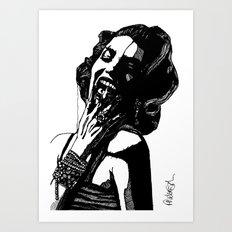 B&W Fashion Illustration - Part 2 Art Print