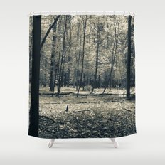 The Serene Forest Shower Curtain