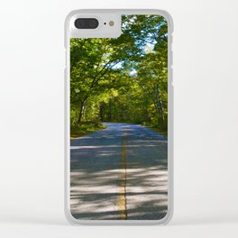 The road to Point Pelee National Park, Ontario Canada Clear iPhone Case