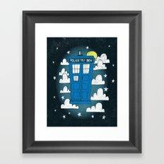 blue box Framed Art Print