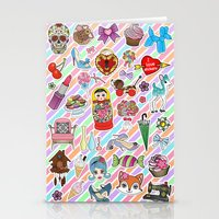 stickers Stationery Cards featuring I Love Stickers by Jade Boylan