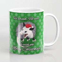 Christmas Opossum Coffee Mug