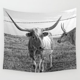 Longhorn Cows Wall Tapestry