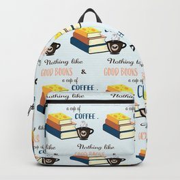 Good Books and Coffee Backpack