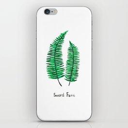 sword fern iPhone Skin