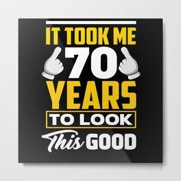 70 Years Of Good Looks Metal Print