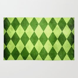 Green Harlequin Grunge Rug