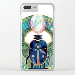 Egyptian Scarab Clear iPhone Case