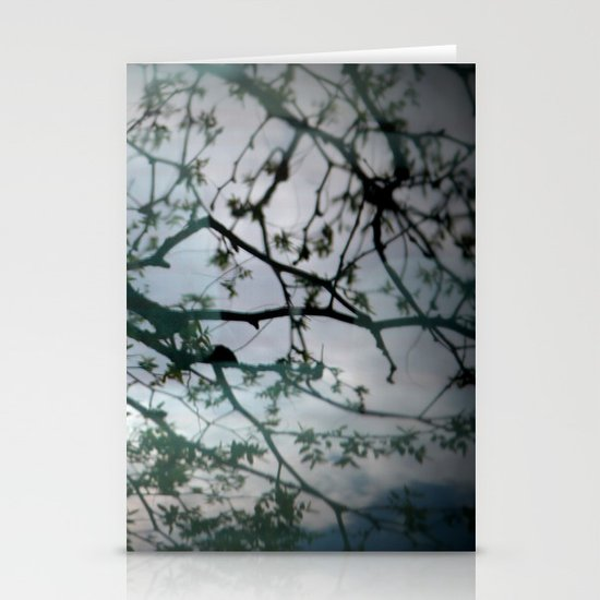 tree mystery Stationery Cards