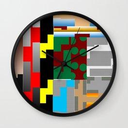 Pieces of fabrics Wall Clock