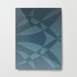Wings and Sails - Blue and Light Blue Metal Print