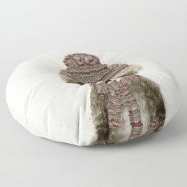 little indy raccoon Floor Pillow