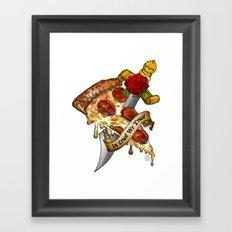 Slice Slice Baby Framed Art Print