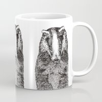 badger Mugs featuring Badger by Meredith Mackworth-Praed