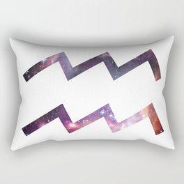 Aquarius Zodiac Symbol Rectangular Pillow