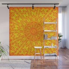 Yellow Earth Mandala Wall Mural