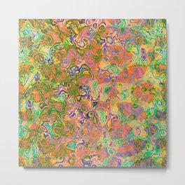 Paint Swirls Abstract Art Metal Print