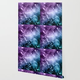 Purple Teal Galaxy Nebula Dream #4 #decor #art #society6 Wallpaper