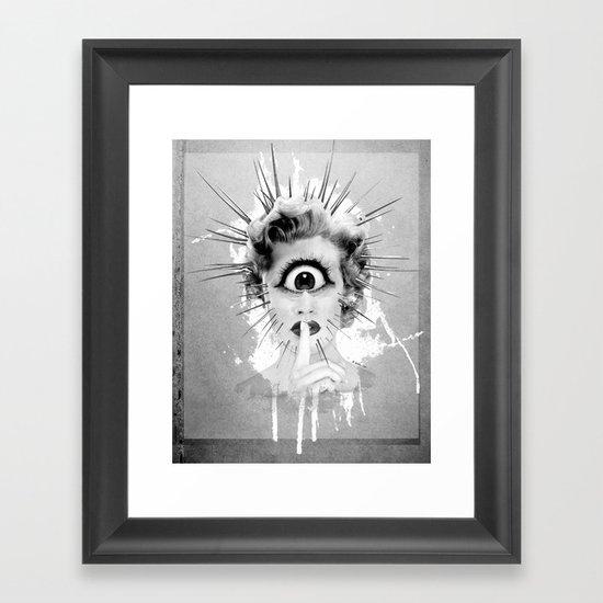 Shhh… Redux Framed Art Print