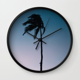 Single Palm Tree Wall Clock