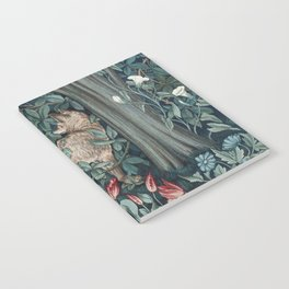 William Morris Forest Fox Tapestry Notebook