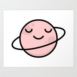 Cute Planet Art Print