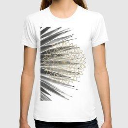 Gold Mandala on Agave #1 #tropical #decor #art #society6 T-shirt