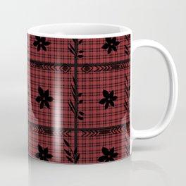 flower on flannel pattern Coffee Mug