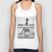 silver Tank Tops featuring Silver by MADforADS