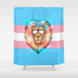 Trans Lion Pride Shower Curtain