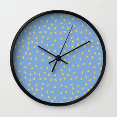 Yellow Pit on Blue /// www.pencilmeinstationery.com Wall Clock