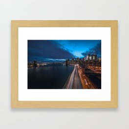 Blue Hour New York City Framed Art Print