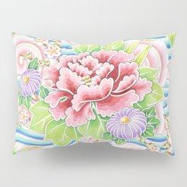 Pastel Kimono Bouquet Pillow Sham