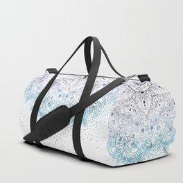 Elegant floral mandala and confetti image Duffle Bag
